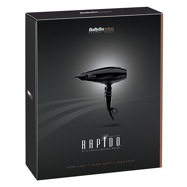 Babyliss Pro Rapido Hair Dryer Bab7000u Black